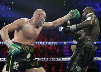 Tyson Fury (foto SITA/AP/Isaac Brekken)