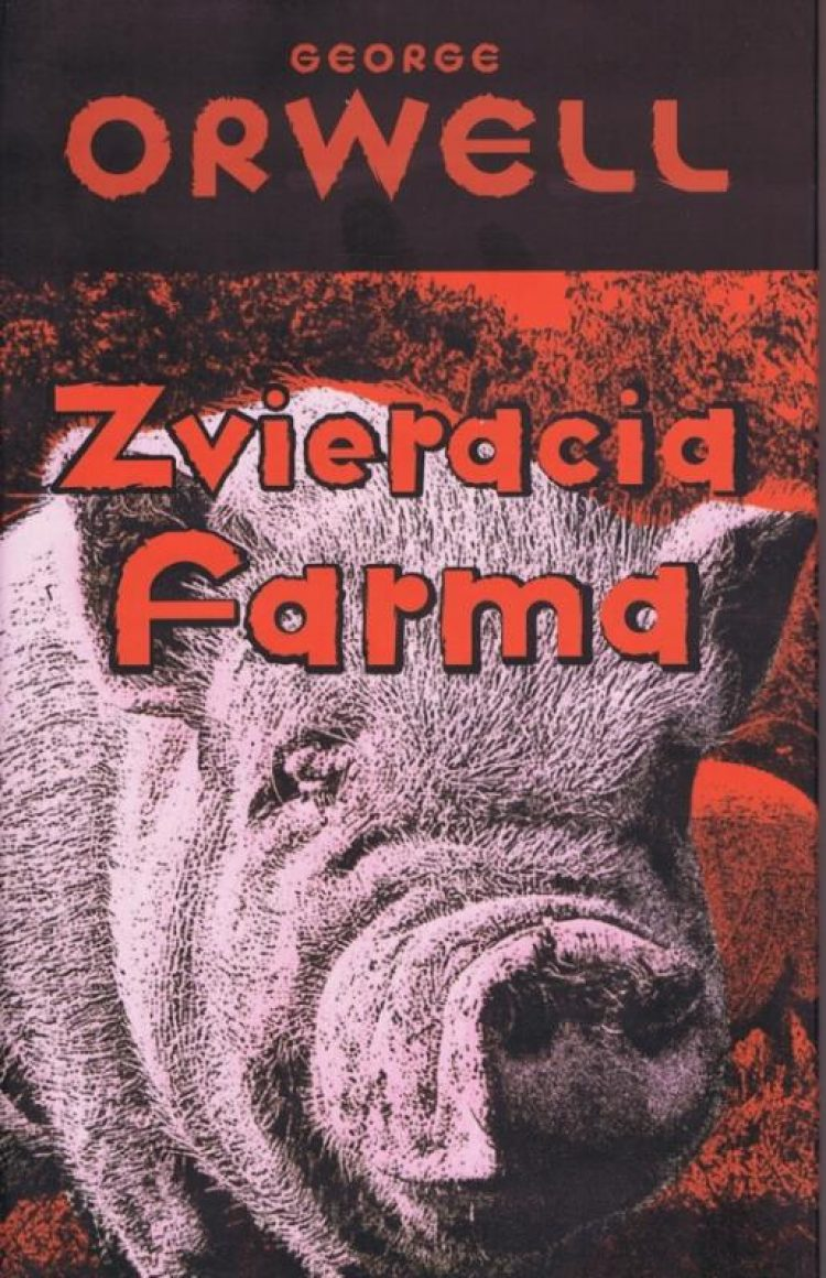 Zvieracia farma je satirou na revolúciu, ktorá sa vymkla z rúk. Zvieratá sa zbavia nadvlády nenávidených ľudí a zavedú si svoj vlastný režim, v ktorom si všetci majú byť rovní. Z nádherných ideálov revolúcie sa však stáva nočná mora. (Vydavateľ Vydavateľstvo Slovart s.r.o., foto: knihysova.sk)