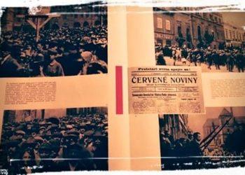 (Reprofoto: Dejiny KSČ v obrazoch, s. 42-42, Orbis 1961 Praha)