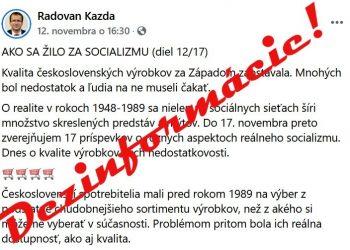 (Foto obrazovky, upravené: facebook.com/kazdaradovan)