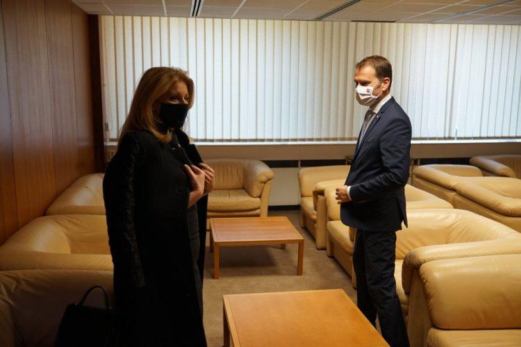 Zuzana Čaputová s Igorom Matovičom (Foto: SITA/ÚV SR)