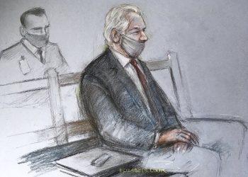 Julian Assange (Foto: SITA/AP/Elizabeth Cook)