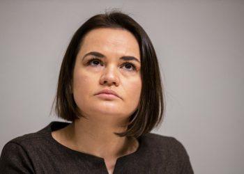 Svjatlana Cichanovská (Foto: SITA/AP Photo/Raul Mee)