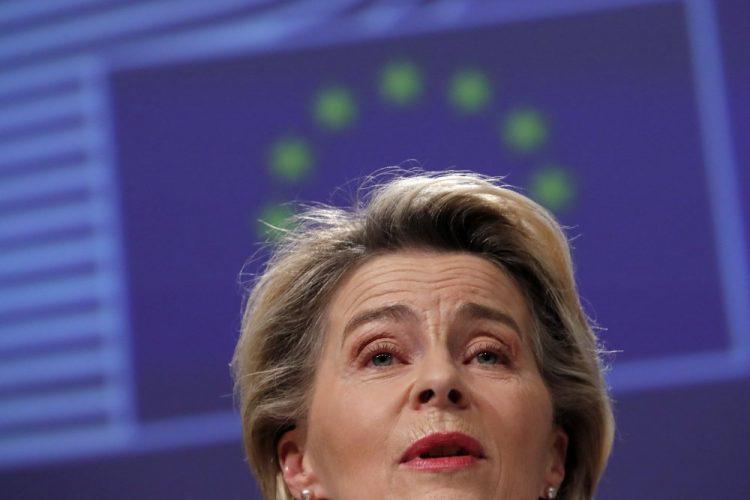 Predsedníčka Európskej komisie Ursula von der Leyenová (Foto: SITA/AP/Francisco Seco)