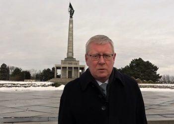 Veľvyslanec RF na Slovensku Igor Bratčikov (Foto z videa: videopressagency.sk)