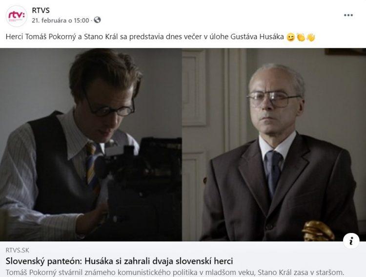 (Foto obrazovky: facebook.com/RTVS.sk)