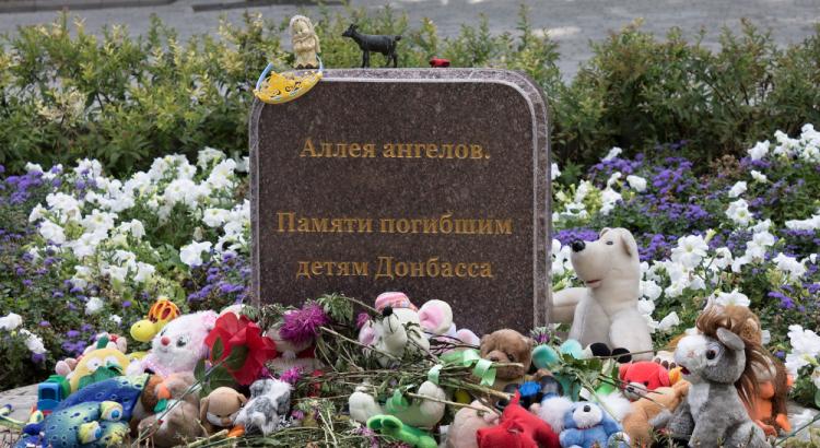 Alej anjelov. Česť pamiatke deťom, ktoré zahynuli na Donbase (Foto: Canva/Yaslex)
