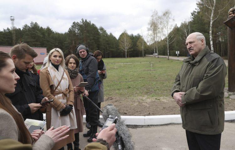 Alexandr Lukašenko (Sergei ShelegBelTA Pool Photo via AP)