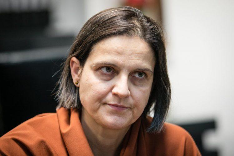 Ministerka spravodlivosti SR Mária Kolíková počas rozhovoru pre spravodajskú agentúru SITA. Bratislava, 17. december 2020 (Foto: SITA/Jana Birošová)