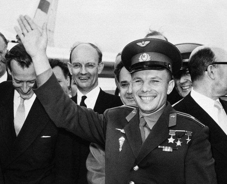 Gagarin v Londýne 11. 7. 1961 (Foto:  SITA/AP Photo)