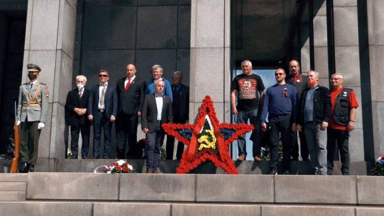 Delegácia Komunistickej strany Slovenska na Slavíne