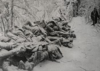 Zmrznuté telá mŕtvych sovietskych vojakov zabitých počas sovietsko-fínskej vojny (Foto: Canva)