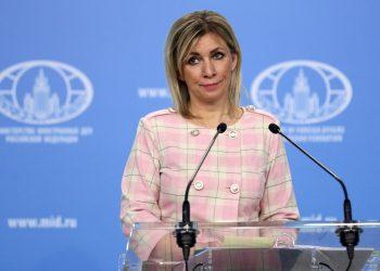 Maria Zacharovová (Foto: SITA/AP/Russian Foreign Ministry Press Service)