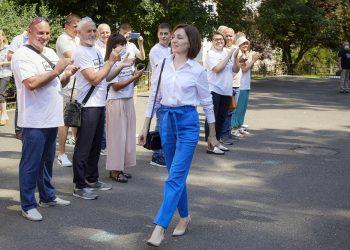 Prezidentka Maia Sanduová (Foto: SITA/AP Photo/Aurel Obreja)