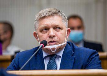 Poslanec NR SR za stranu SMER-SD Robert Fico počas rokovania 40. schôdze Národnej rady SR. Bratislava, 23. september 2021 (Foto: SITA/Jana Birošová)