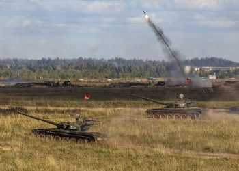 Vojenské cvičenie Západ-2021 (Foto: SITA/AP/Vadim Savitskiy/Russian Defense Ministry Press Service)