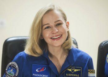 Júlia Peresildová (Foto: SITA/AP/Roscosmos Space Agency)